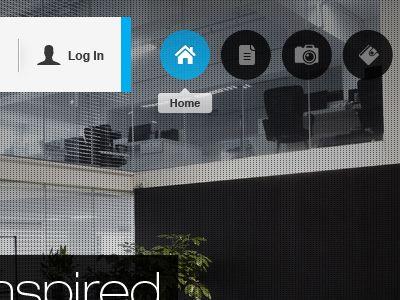 navigation menu + icon