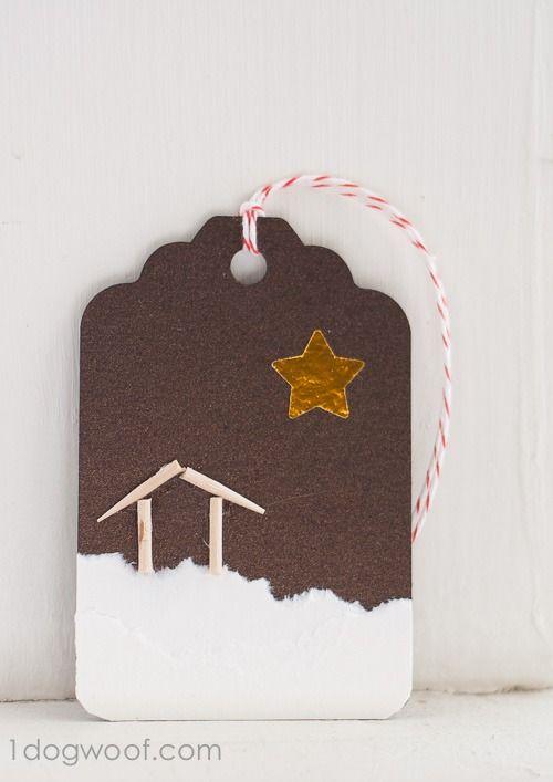 O Holy Night. Christmas Gift Tags. www.1dogwoof.com