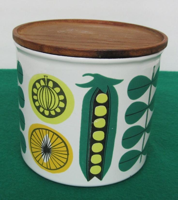 Finel VEGETA Enamel Jar with Lid, Tomula