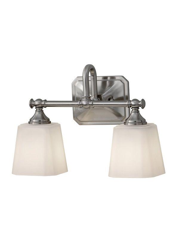 VS19702-BS,2-Light Vanity Strip,Brushed Steel