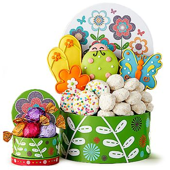 14 best easter gifts images on pinterest cake baskets and bouquets colorful cookies cookies gift to usa negle Gallery