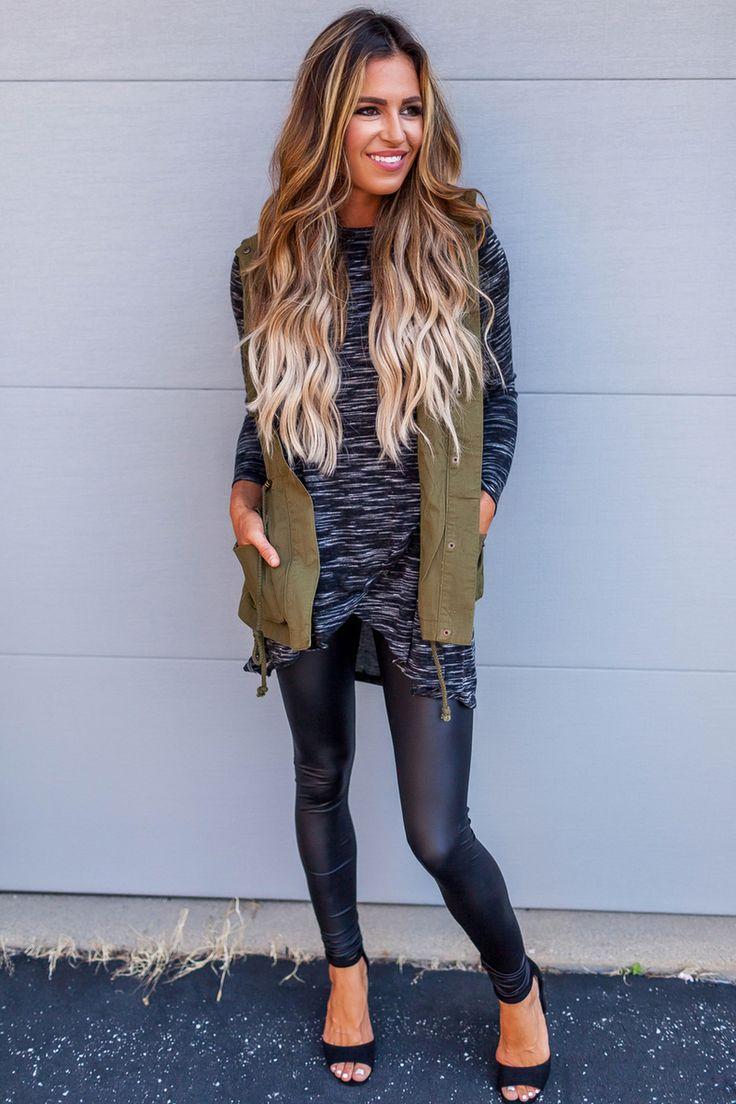 Olive Cargo Vest - Dottie Couture Boutique