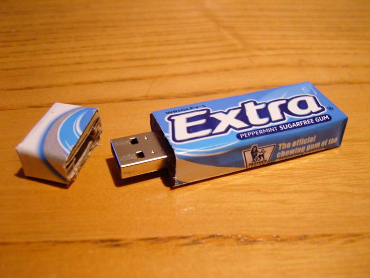 chewing gum pack repurposed into a cool usb flash drive