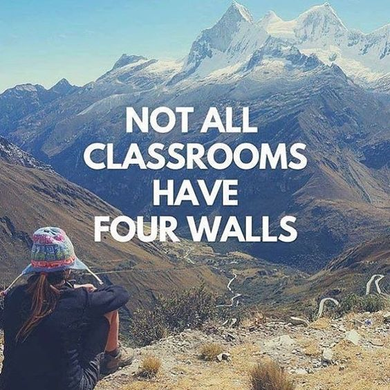 Not all classrooms have four walls. wwww.thekiwihaslanded.com