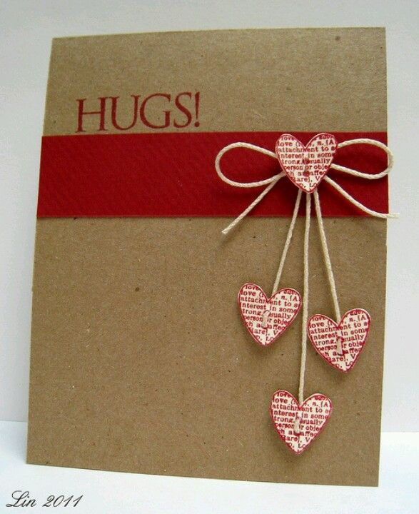 25 best ideas about Homemade valentine cards – Valentine Handmade Card Ideas