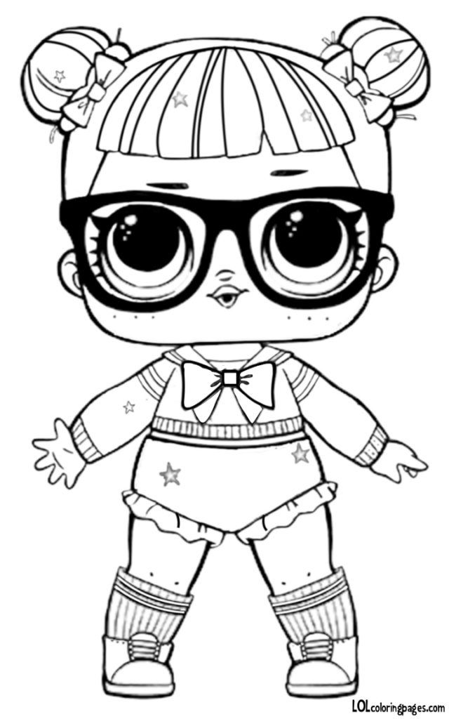 Glitter Teachers Pet Coloring Page Lol Dolls Coloring Rocks