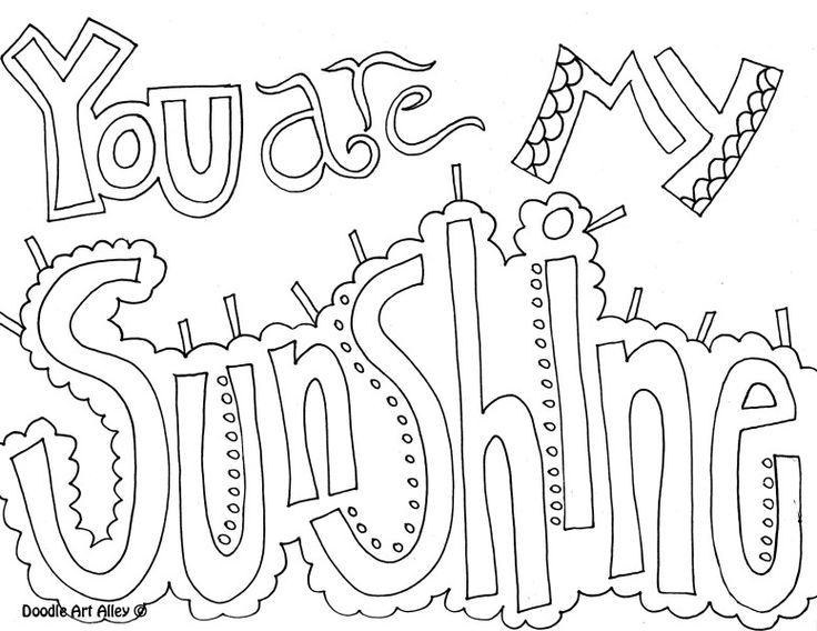 Quote Coloring Page You Are My
