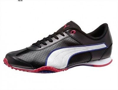 Tênis Puma Women's Asha Lace Perf Leather Women's Shoes  Black-White-Spectrum Blue #