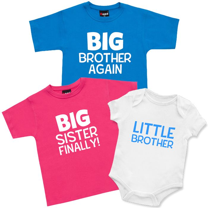 Again, Finally, Little Brothers & Sisters T Shirts & Onesie Set