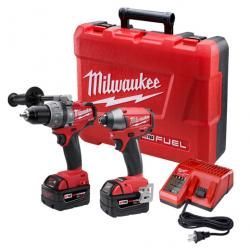 Milwaukee 2797-22 18V M18 FUEL LITHIUM-ION 2-Tool Combo Kit - Hammer Drill & Hex Impact Driver