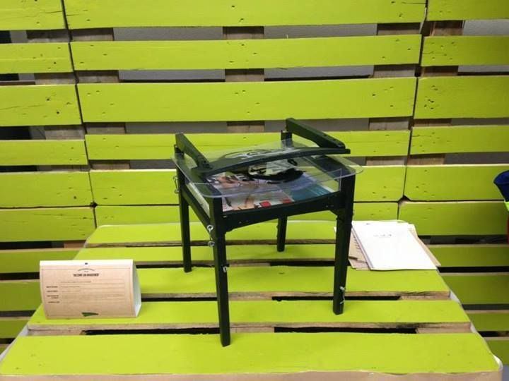 "Kėdė-lagaminas ""LA.GĖ.DĖ."", dizainerė Dovilė Malūnavičiūtė, ES žaliojo dizaino konkursas, 1 vieta, 2014. Chair-bag LA GE DE, designer Dovile Malunaviciute"