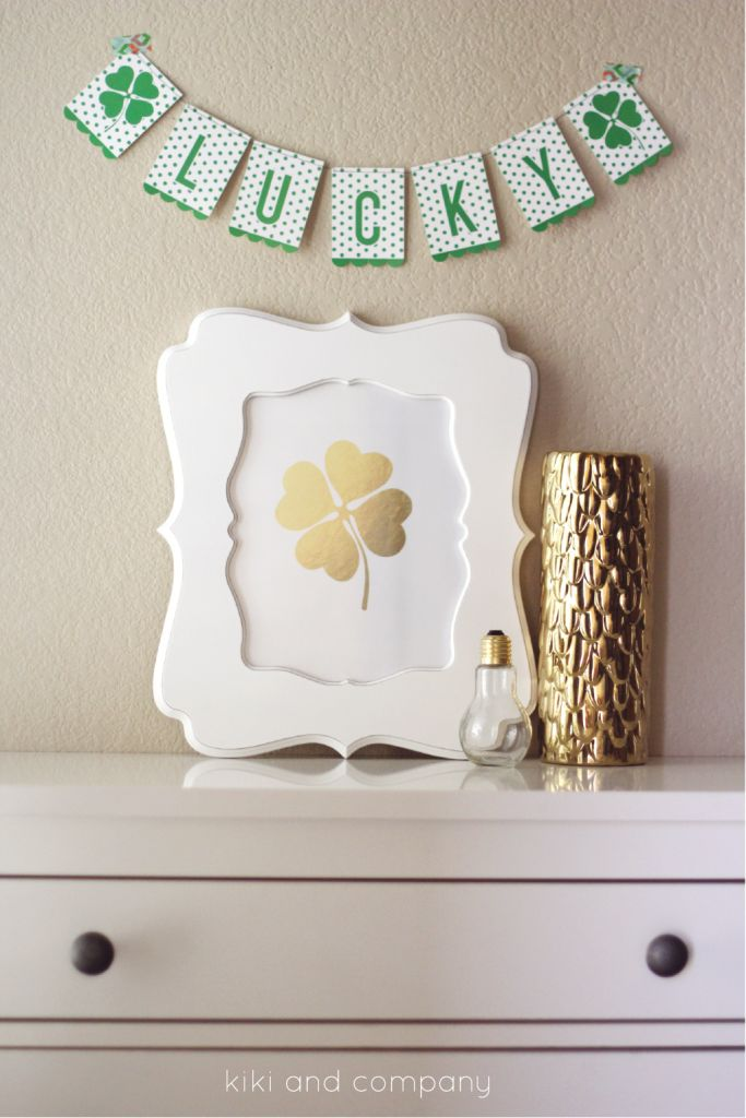 I like frames like this when there is white negative space around the subject.  (St. Patricks Day Lucky Art Print)
