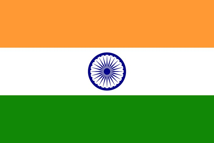 Flag Of India. The saffron color represents courage and sacrifice; white – truth, peace and purity; green – prosperity; and the Ashok Chakra represents the Laws of Dharma