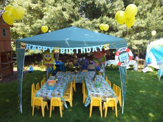 Cute SpongeBob party set up! & 21 best SpongeBob Party images on Pinterest   Spongebob Spongebob ...