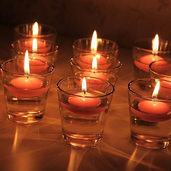 evening centerpieces with candles | ... Cup Water Floating Candle Holder Includ Two Candle Table Centerpieces