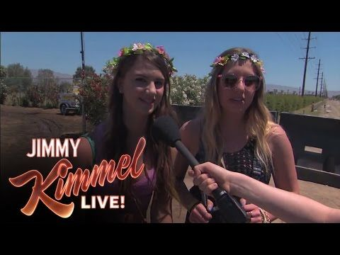 Jimmy Kimmel Tricked A Bunch Of People At Coachella Into Pretending They've Heard Of Bands That Don't Exist