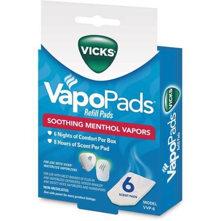 Vicks Soothing Vapors Replacement Pads, 6-Pack - Walmart.com