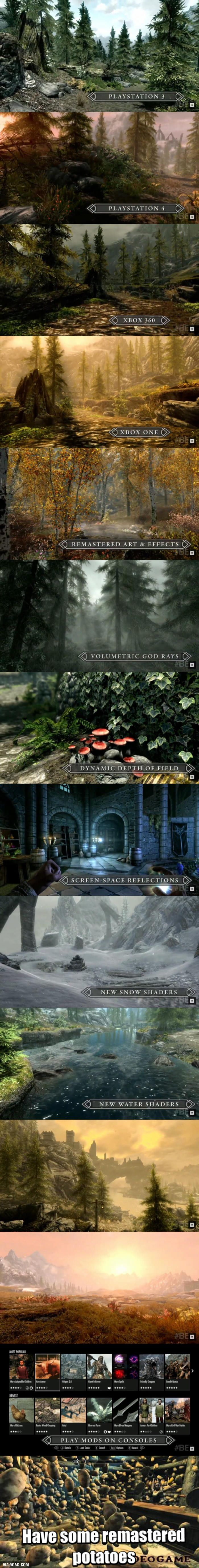 First Images For Skyrim Remastered PS4 & Xbox One! And I will get a free upgrade on my PC version, for those how bought the Legendary edition