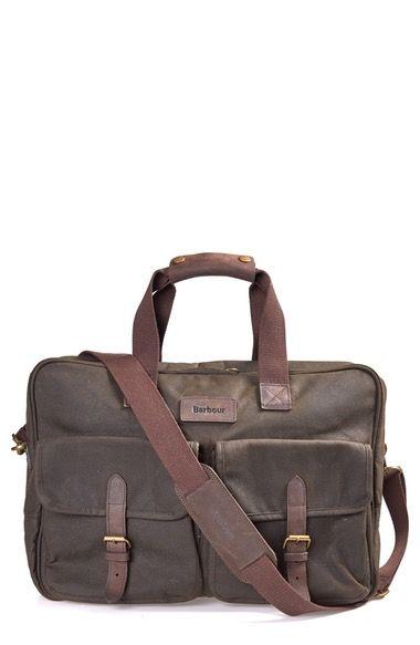 Barbour Duxford Canvas Briefcase