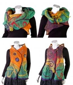 Handmade Felt Vests by featured artist Ariane Mariane  www.ArtsyShark.com