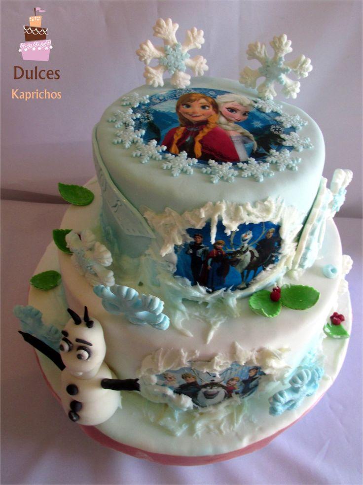 Torta Frozen #TortaFrozen #TortasArtisticas #TortasDecoradas