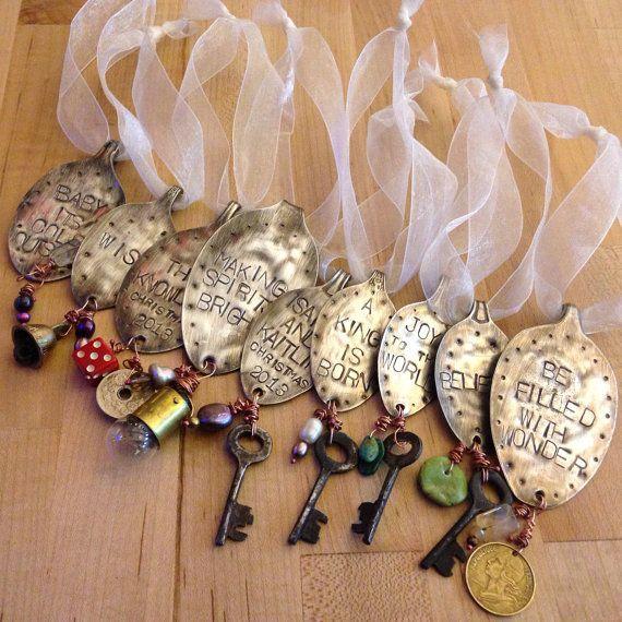 Christmas ornaments!  CUSTOM Vintage Spoon Ornament by LadyForge by LadyForge on Etsy, $18.00