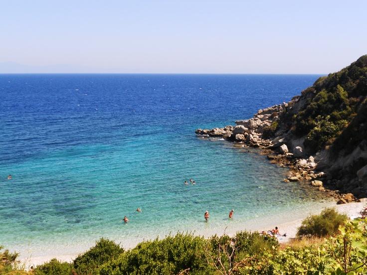 İşte iniş yolunu bulamadığım o plaj... Otelimin önü!