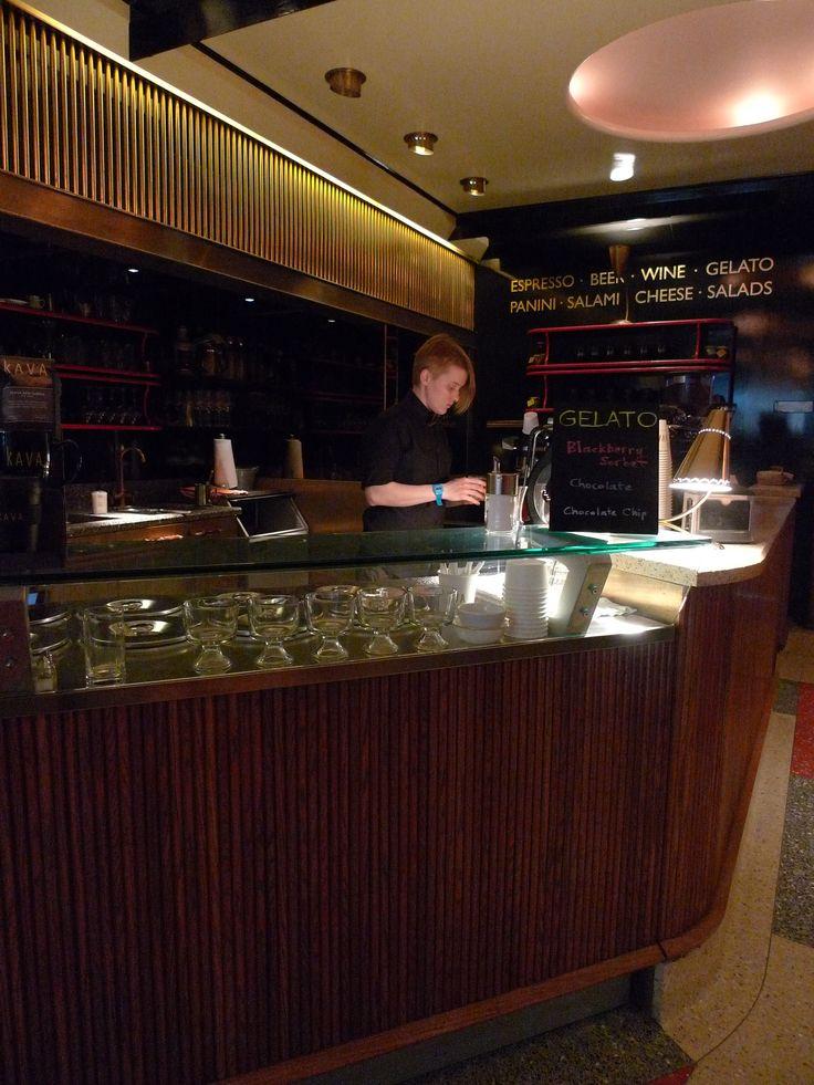 Barista at work / Kava Café, Chelsea, New York