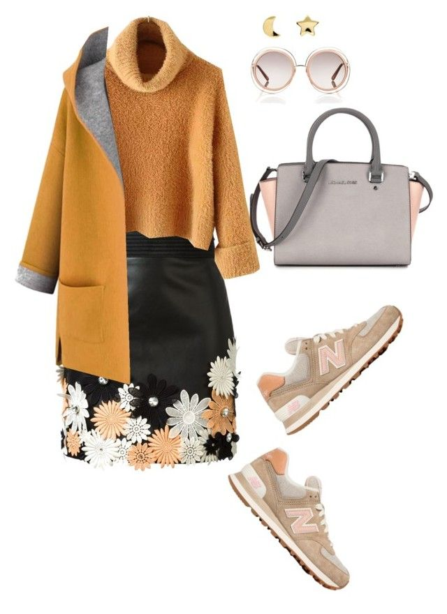 """Colorful"" by valeria-verde on Polyvore featuring Emanuel Ungaro, New Balance, Erica Weiner, Chloé, women's clothing, women's fashion, women, female, woman and misses"