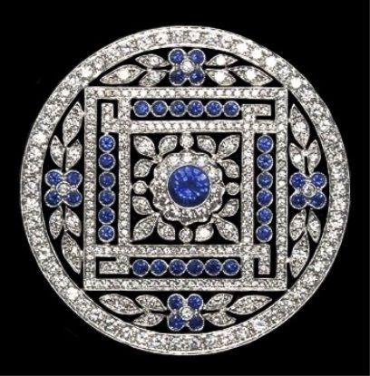 Belle Epoque diamond and sapphire brooch.