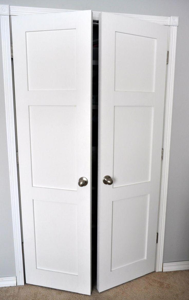 From Keep Calm and Decorate: replacing sliding closet doors with regular doors