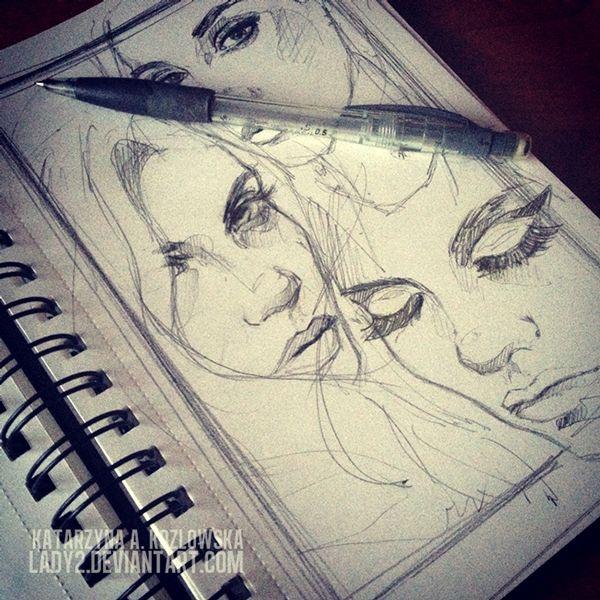 Sketchbook No.1 Character Design, Drawing, Illustration, Sketchbook  