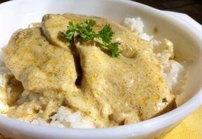 Mustáros csirkemell rizzsel