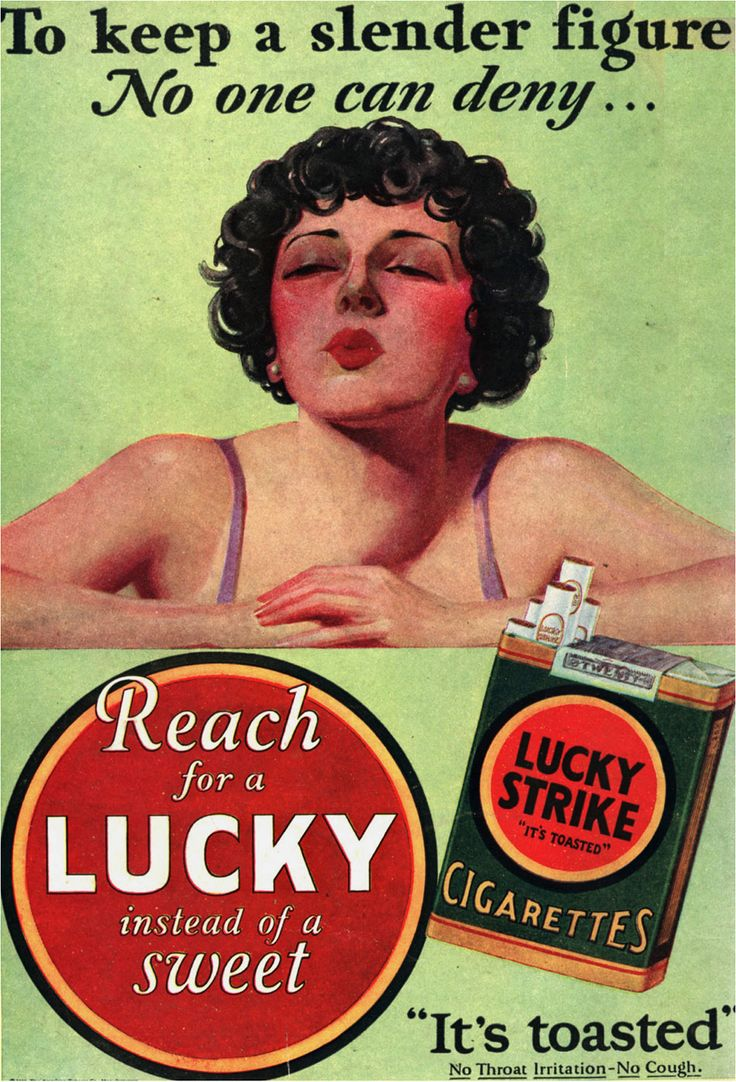 """""""Reach for a Lucky instead of a sweet."""""""