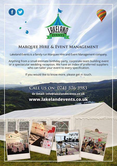 Our latest flyer  www.lakelandevents.co.uk