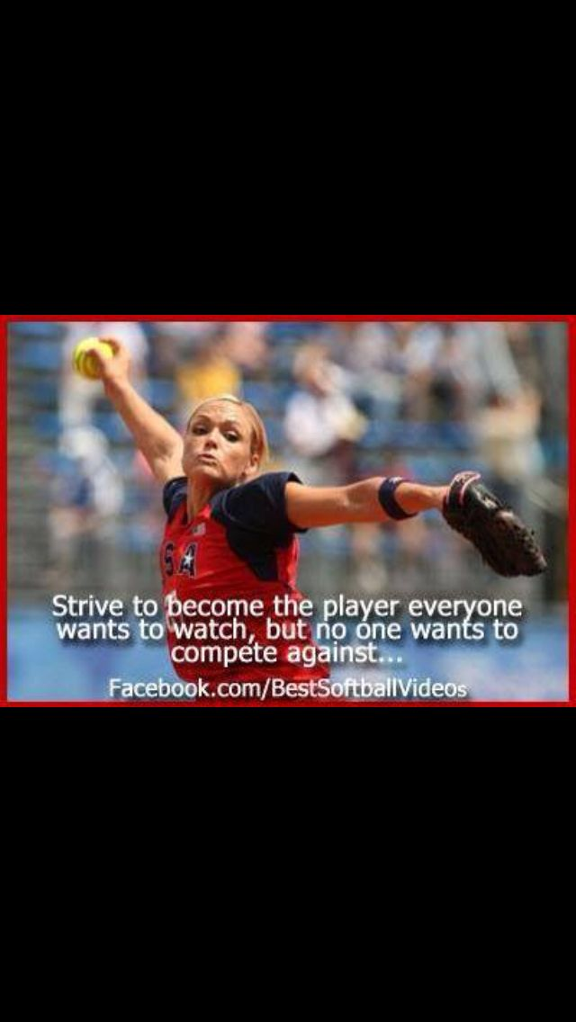 Jennie finch and her quotes are perfect