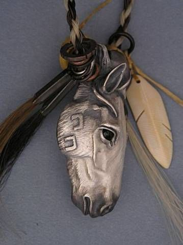 Hand crafted with horse hair - great idea for a memorial piece -  for the horse spirit
