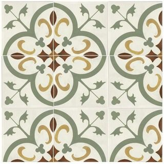 Place these ceramic tiles on the floor of your kitchen to give it a fresh look, or use them on your bathroom wall as a decorative back splash. Designed for both floors and walls, this pack of 25 tiles
