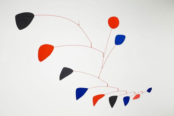 Alexander Calder Mobile Sculptures | Alexander-Calder-Red-Blue-Black-Cascade