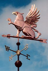Griffin Weathervane, by LizAnne Jensen of West Coast Weather Vanes.