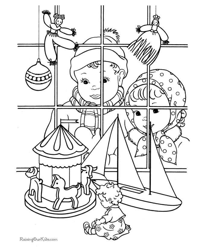 Free Printable Christmas Toys Coloring Pages
