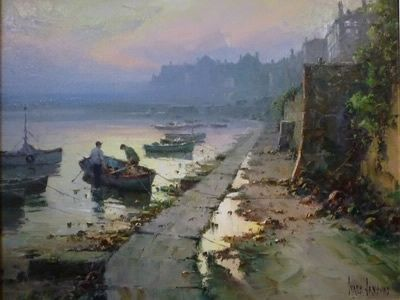 Receeding Tide Mousehole Cornwall, by Ivars Jansons