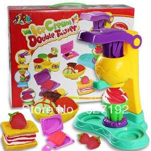 3D Play Dough Plasticine Ice Cream Mould Toiletry kit Playdough Toys Educational toys 3 style to choose $11.50
