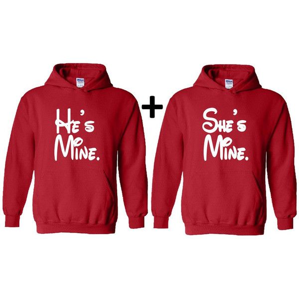 Hes Mine Shes Mine Couple Hooded Sweatshirt Couple Hoodie Boyfriend... ($39) ❤ liked on Polyvore featuring tops, hoodies, brown, women's clothing, low top, brown tops, boyfriend girlfriend hoodies, boyfriend tank top and long hoodies