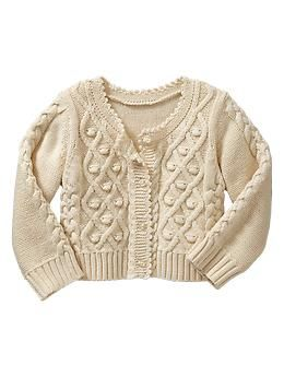 Mixed-stitch cable cardigan | Gap
