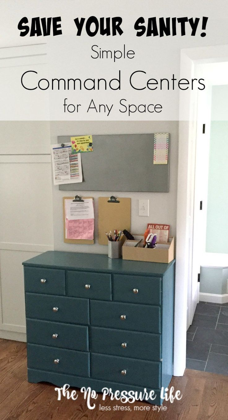 Keep your daily life organized with an inexpensive and simple command center! You don't need a lot of space - just a little organization. Get the how-to at http://www.thenopressurelife.com
