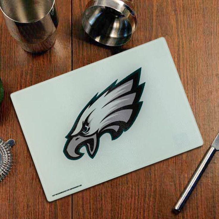 Philadelphia Eagles Logo Glass Cutting Board