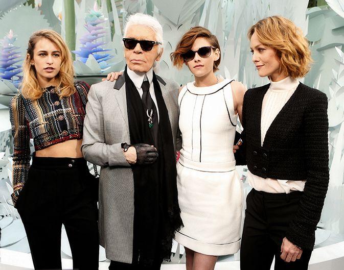 Alice Dellal, Kristen Stewart et Vanessa Paradis, égérie de la nouvelle campagne sac de Chanel |