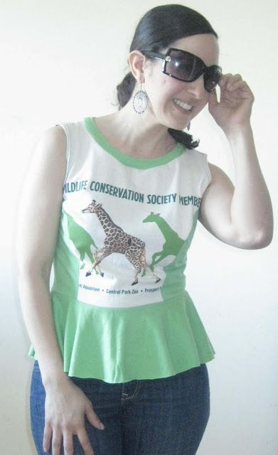 DIY Clothing & Tutorials: Peplum Top T-Shirt Reconstruction
