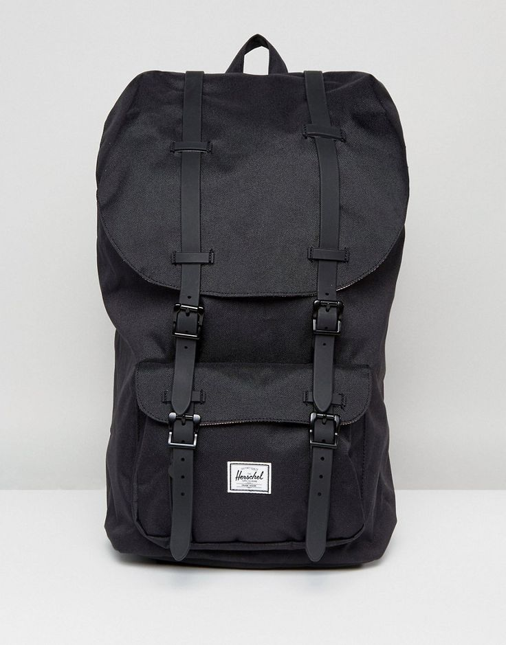 Herschel Supply Co Little America Backpack with Rubber Straps in Black